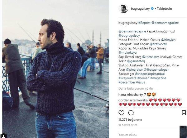 Ünlü isimlerin Instagram paylaşımları (01.12.2017)
