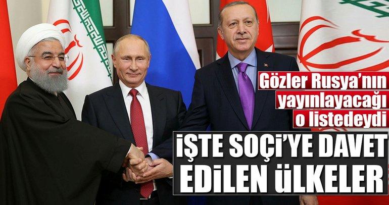 Rusya'nın Soçi listesini yayınladı