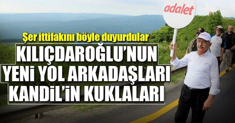 Kılıçdaroğlu'na destek Kandil'in kuklalarından geldi!