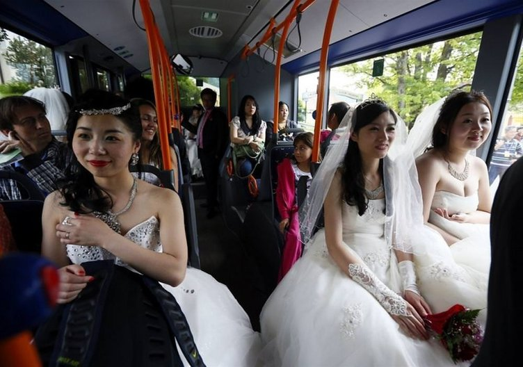 Sıradışı düğünlerden kareler
