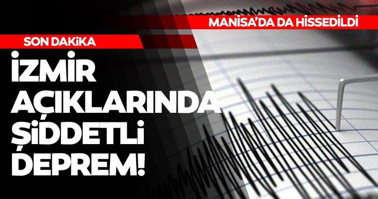 Son Dakika Haberleri! İzmir açıklarında korkutan deprem! Manisa ve Balıkesir'de de hissedildi!