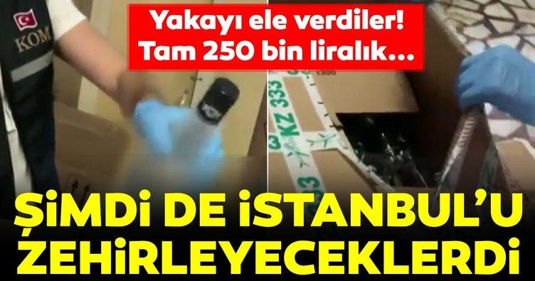 İstanbul'u zehirleyeceklerdi! 250 bin lira değerinde sahte alkol ele geçirildi