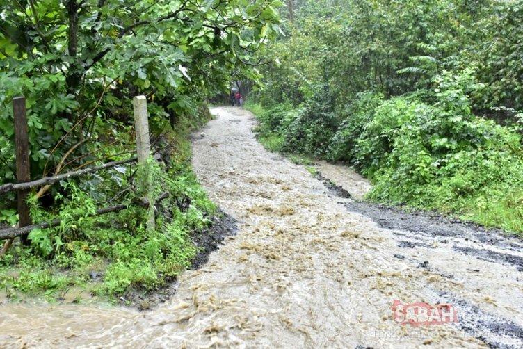 Samsun'u vuran sağanak yağış Ordu'da da etkili oldu