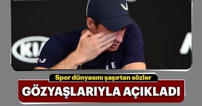 Andy Murray kötü haberi ağlayarak açıkladı