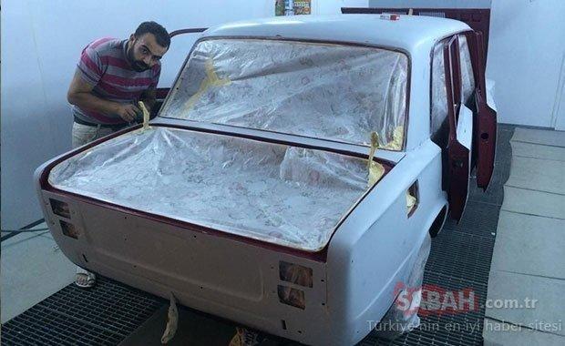 Herkes bu arabanın peşinde! Efsane Murat 124'e yaptıkları görenleri şaşkına çeviriyor...