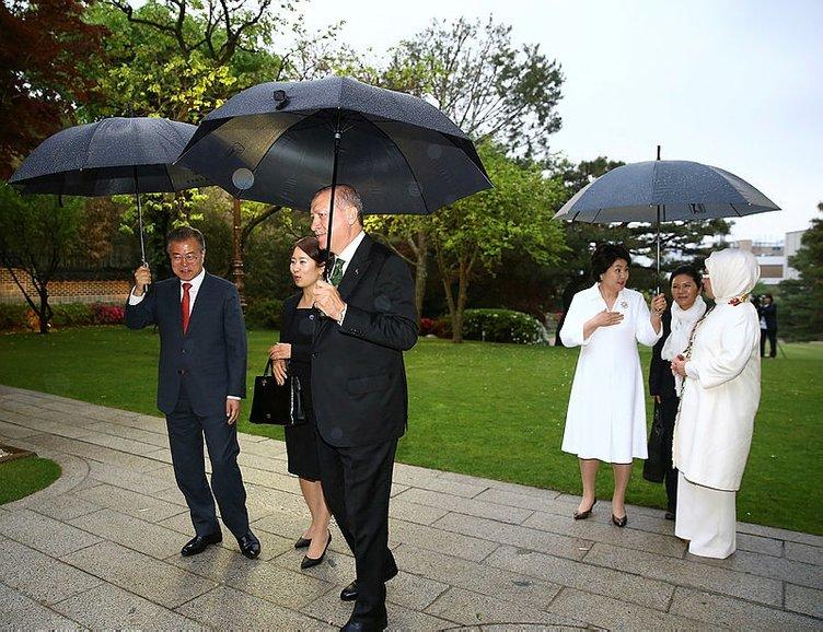 Cumhurbaşkanı Erdoğan Geleneksel Kore Evi'nde
