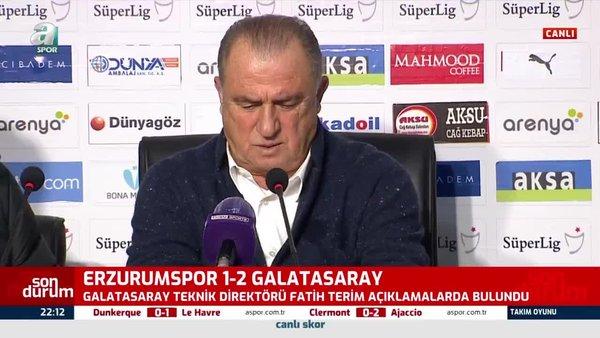 Galatasaray Teknik Direktörü Fatih Terim Falcao'nun pozisyonuna isyan etti!