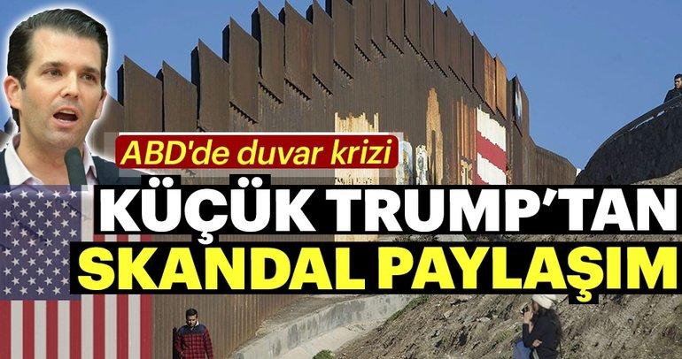 Trump'ın oğlundan tartışmalı duvar paylaşımı