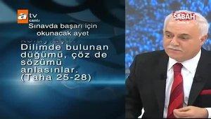 Nihat Hatipoglu'ndan sınavlardan önce okunacak dua