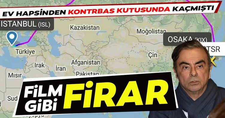 Film gibi firar İstanbul'dan geçti