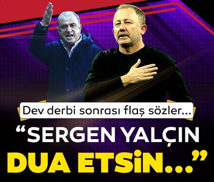 Son dakika Beşiktaş - Galatasaray haberleri: Derbi sonrası flaş sözler! Sergen Yalçın dua etsin, Fatih Terim...
