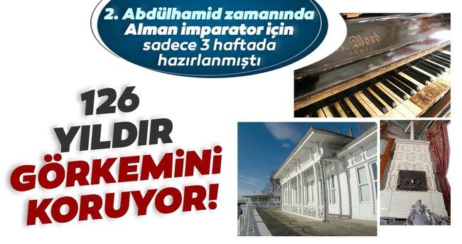 126 yıldır görkemini koruyor! 2. Abdülhamid zamanında hazırlanan köşk görenleri büyülüyor