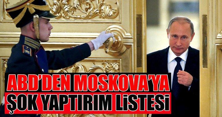 ABD'den Moskova'ya yaptırım listesi