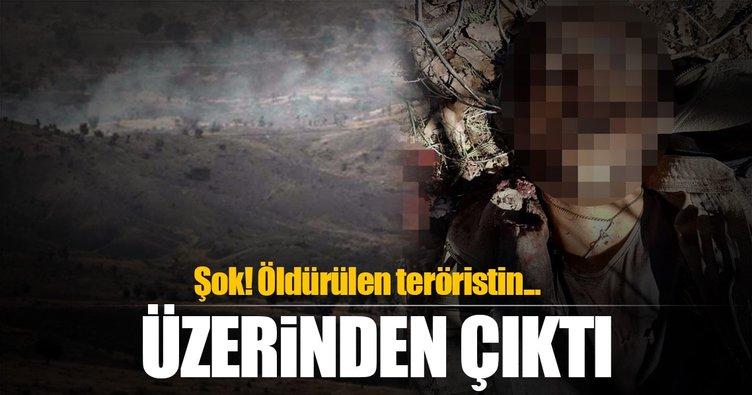 Şırnak'ta öldürülen teröristin boynundan çıktı!