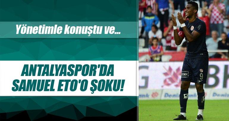Samuel Eto'o Antalyaspor'dan ayrılıyor