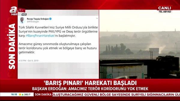 Başkan Erdoğan açıkladı: Barış Pınarı harekatı başladı