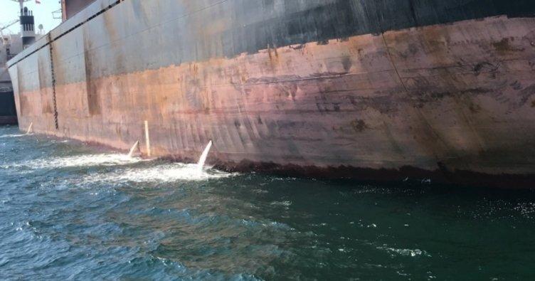 İzmit Körfezi'ni kirleten gemiye rekor ceza