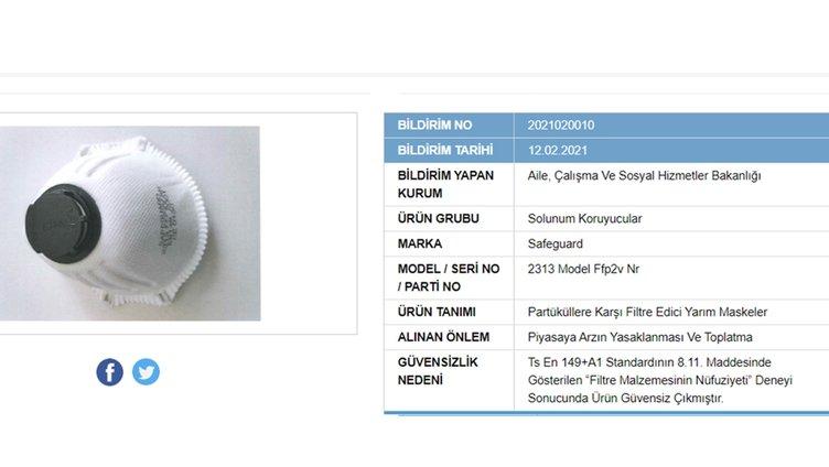 SON DAKİKA | Bakanlık açıkladı: 41 maske markası güvensiz çıktı! Sakın bu maskeleri kullanmayın!