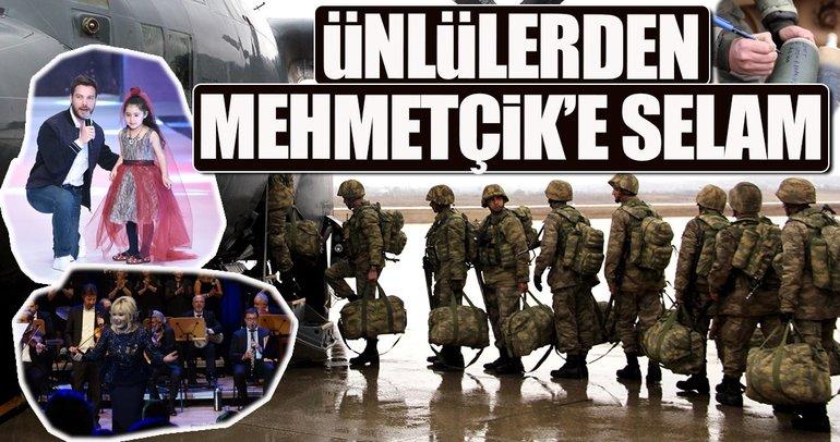 Ünlülerden Mehmetçik'e selam