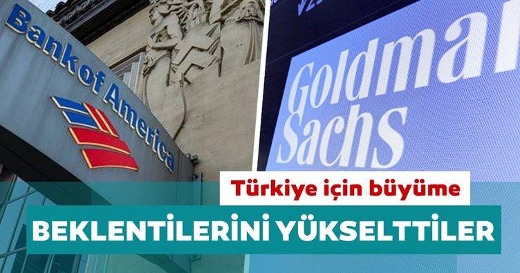 BofA ve Goldman Sachs Türkiye için büyüme beklentisini yükseltti
