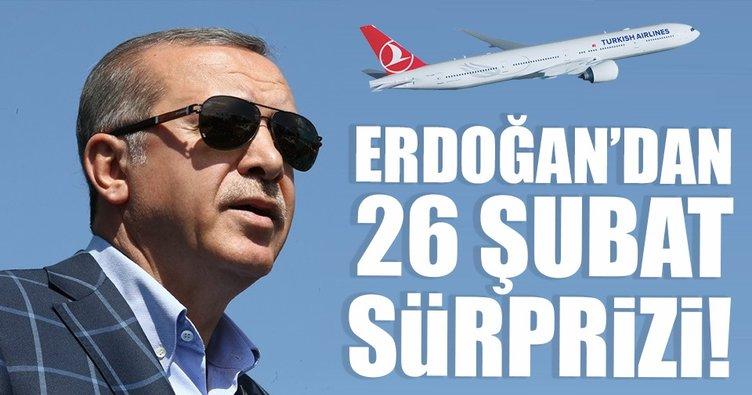 Erdoğan'dan 26 Şubat sürprizi! 3. havalimanında ilk kez yapılacak