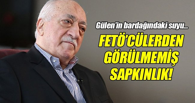 FETÖ elebaşı Gülen'in bardağındaki suyu içmek için yarışmışlar