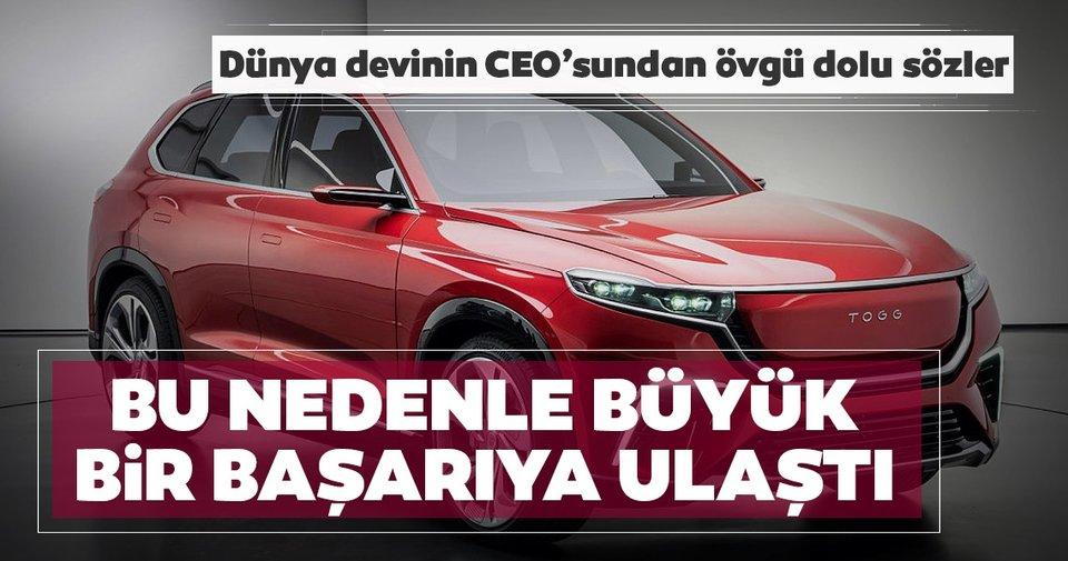 Son dakika haberleri… Yerli otomobil büyük övgü aldı! Dünya devinin CEO'su Angor'dan dikkat çeken… - Sabah