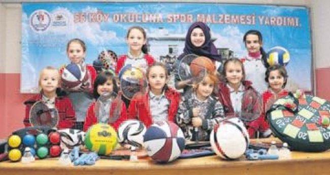 55 Köy Okuluna Spor Malzemesi Yardımı Projesi