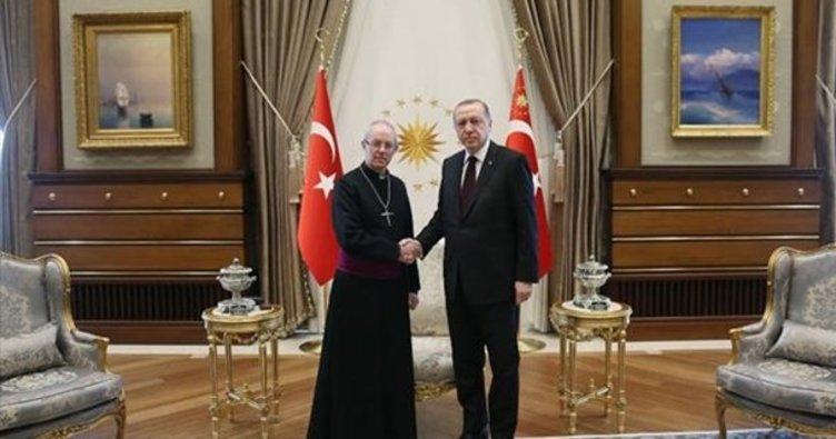 Cumhurbaşkanı Erdoğan, İngiltere Anglikan Kilisesi Başpiskoposunu kabul etti