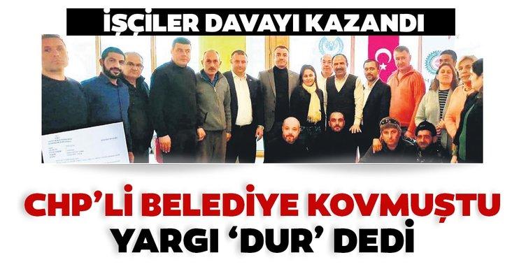 CHP'li belediye kovmuştu yargı 'dur' dedi