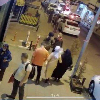Bayrampaşa'da saksıdaki fesleğeni çalan kadın kamerada