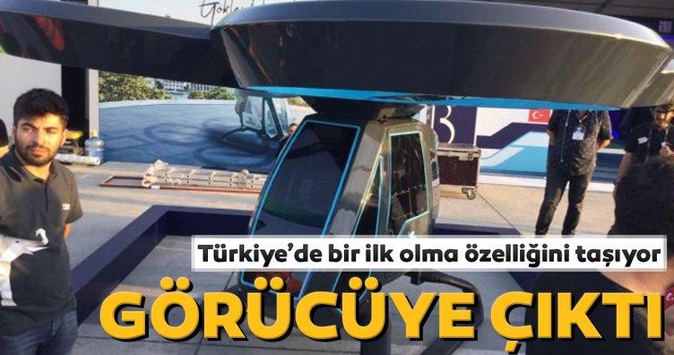 Türkiye'nin ilk uçan aracı Cezeri ilk kez görüntülendi