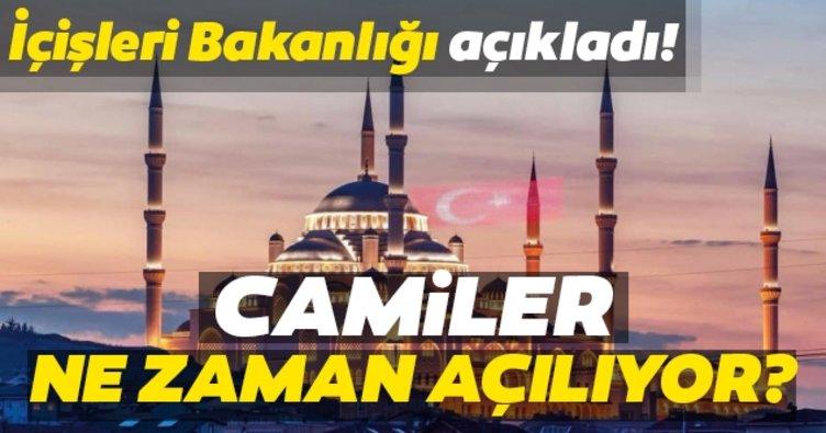 Camiler ne zaman açılıyor? Hangi namazlar camide kılınabilecek? İçişleri Bakanlığı SON DAKİKA açıkladı…