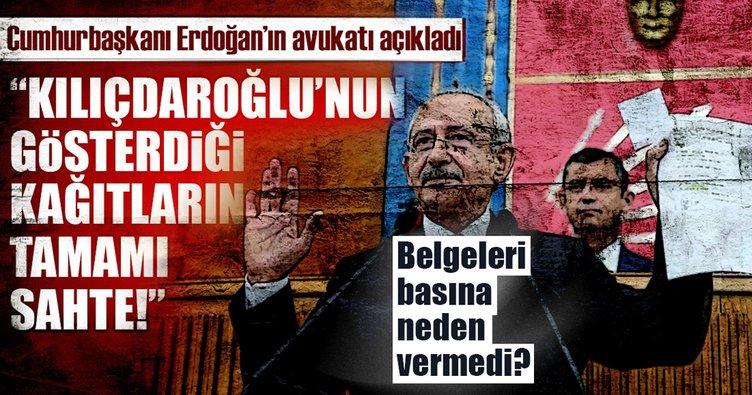 Son dakika: Cumhurbaşkanı Erdoğan'ın avukatından Kılıçdaroğlu'nun açıklamalarına yalanlama