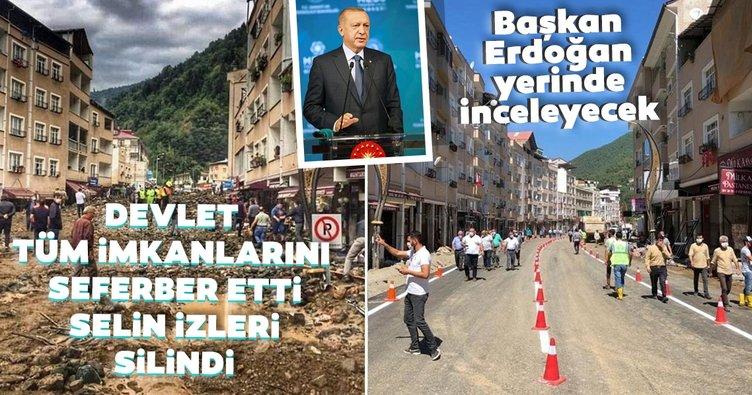 Başkan Erdoğan Giresun'daki selin ardından yapılan çalışmaları yerinde inceleyecek