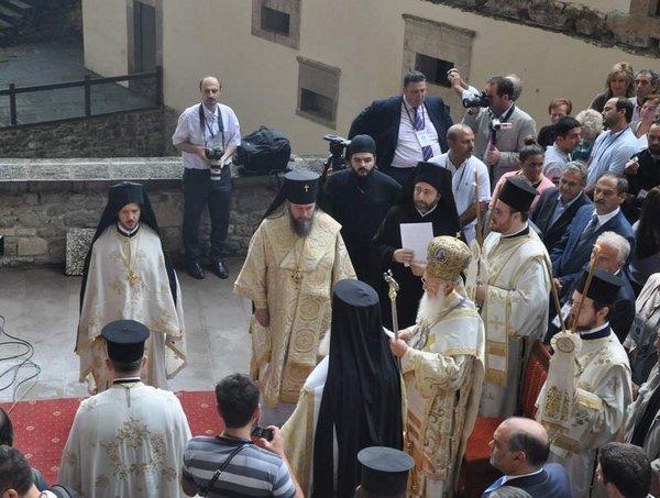 Sümela Manastırı'nda ayin
