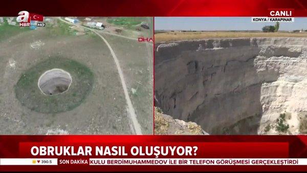 Konya'da obruk tehlikesi! Obruk sayısı 350'yi geçti! | Video