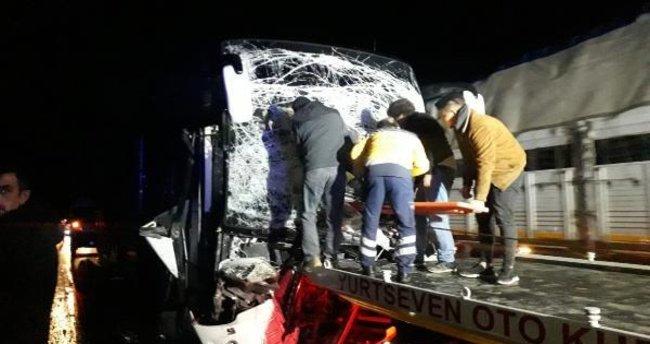 Otobüs kazasında bacağı kopan ikinci şoför öldü