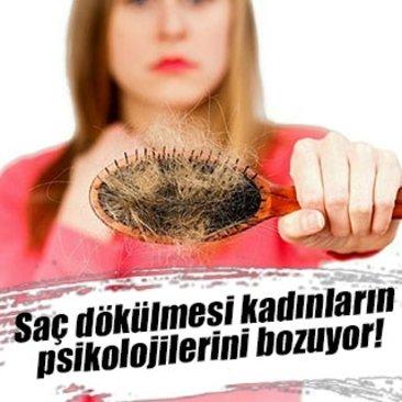 Saç dökülmesi kadınların psikolojilerini bozuyor