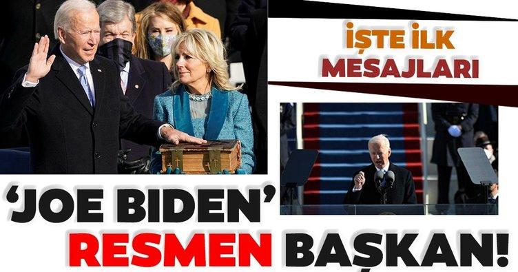 Son dakika: Joe Biden yemin ederek 46. ABD Başkanı oldu! Dakika dakika ABD'den detaylar...