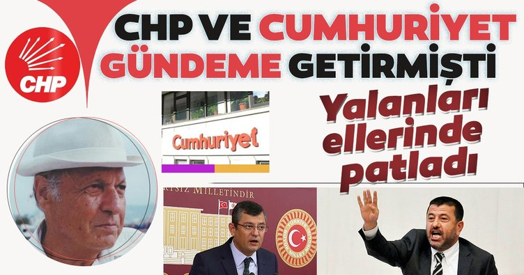 CHP ve Cumhuriyet gündeme getirmişti!  Yalanları ellerinde patladı