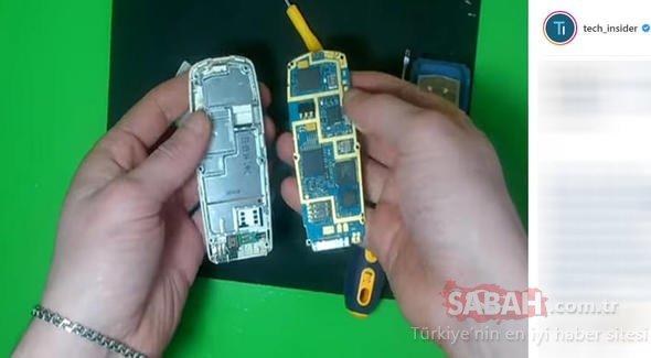 Mühendis genç eski Nokia telefonu bakın nasıl değerlendirdi
