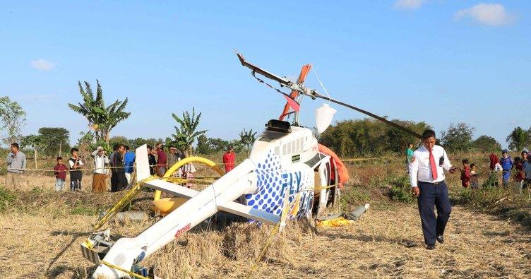 Endonezya'da turistleri taşıyan helikopter düştü: 4 yaralı
