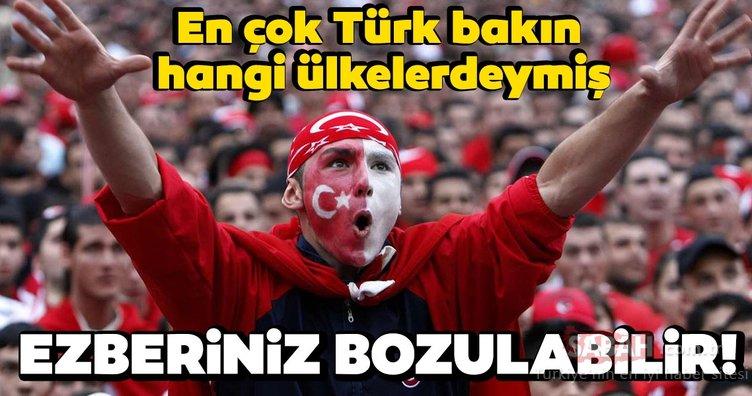 Hangi ülkede ne kadar Türk var? En çok Türk bulunan ülkeler