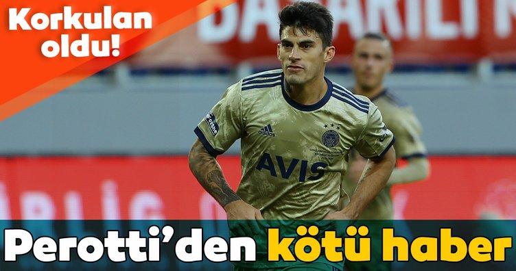 Fenerbahçe'ye Diego Perotti'den kötü haber! Kokulan oldu...