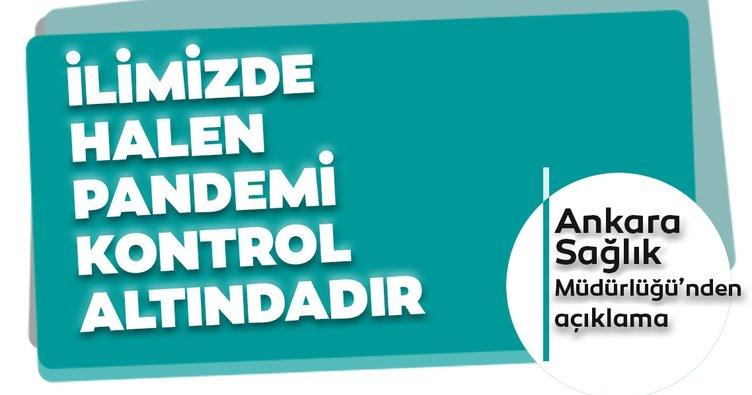 Son dakika: İl Sağlık Müdürlüğü: Ankara'da hastane yatak doluluk oranı yüzde 50