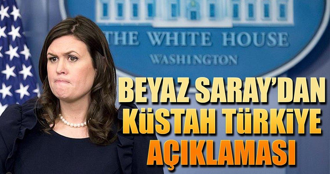 Beyaz Saray'dan küstah Türkiye açıklaması