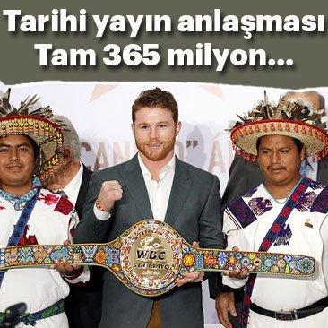 Saul Alvarez'den 365 milyon Dolarlık tarihi anlaşma