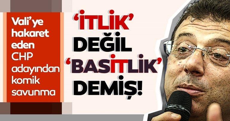 CHP'li Ekrem İmamoğlu'ndan 'Valiye it dediniz mi?' sorusuna itiraf gibi yanıt!