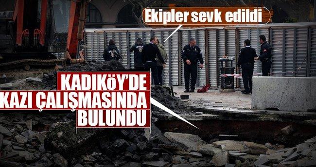 Kadıköy'de kazı çalışmasında top mermileri bulundu!